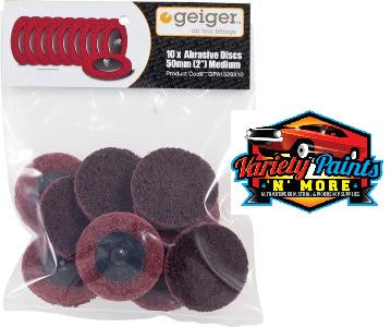 Geiger 50mm Maroon Abrasive Disc (Pack of 10)