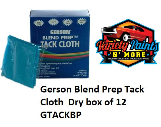 Gerson Blend Prep Tack Cloth  Dry box of 12 GTACKBP