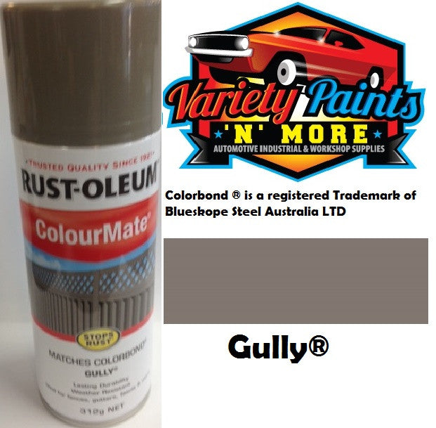 RustOleum Colourmate  Gully  Colorbond  Spray Paint 312g