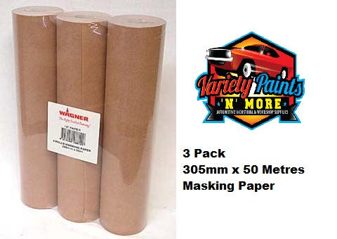 Hand Masking Paper 305mm x 50 Metres 3 pack