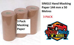 Hand Masking Paper 144mm x 50 Metres 3 pack