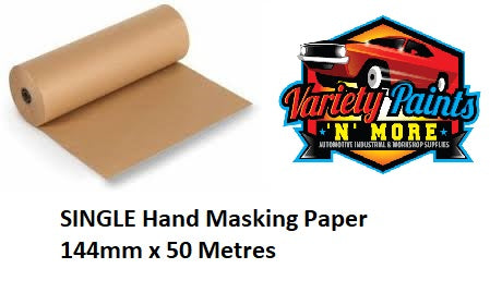 SINGLE Hand Masking Paper 144mm x 50 Metres