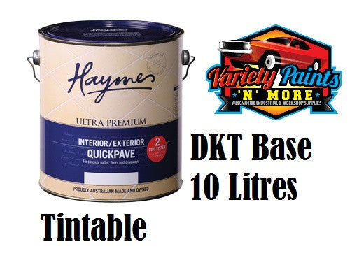 Haymes Quickpave 10 Litre Paving Paint DKT Dark Tint Base Waterbased