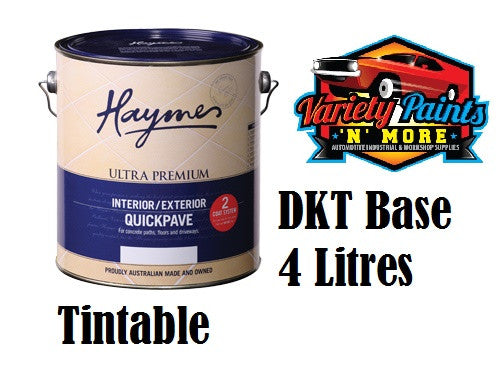 Haymes Quickpave 4 Litre Paving Paint DKT Dark Tint Base Waterbased
