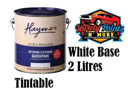 Haymes Quickpave 2 Litre Paving Paint White Base Waterbased
