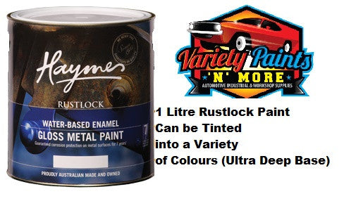 Haymes Rustlock Waterbased Enamel Ultra Deep Base 1 Litre