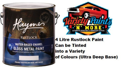 Haymes Rustlock Waterbased Gloss Enamel Ultra Deep Base 4 Litres