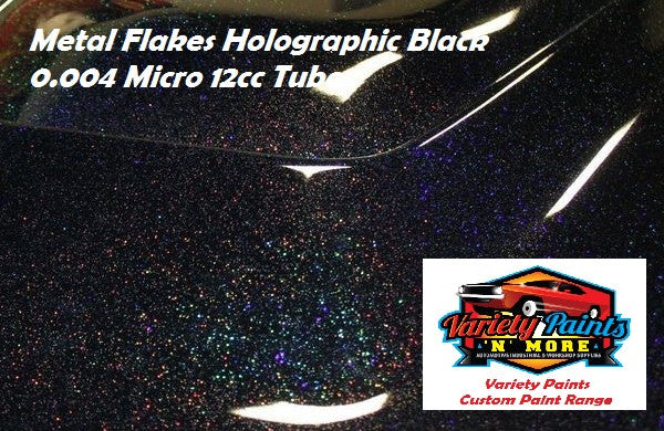 Variety Paints Metal Flakes Holographic Black 0.004 Micro 12cc Tube