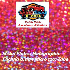 Variety Paints Metal Flakes Fuchsia Holographic  0.004 Micro 12cc Tube