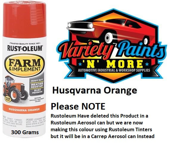 Carrep Husqvarna Orange FARM & AG Spray Paint 300 Gram