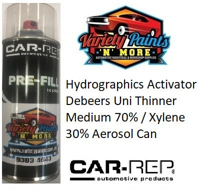 Hydrographics Activator Debeers Uni Thinner Medium 70% / Xylene 30% Aerosol Can