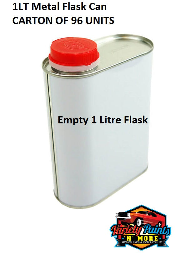 1LT Metal Flask Can CARTON OF 96 UNITS