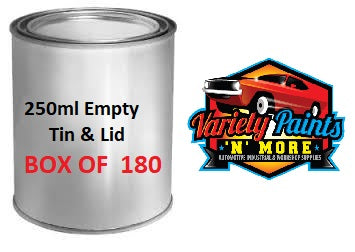 Empty 250ML Litre Tins & Lids (180 Units 1 Carton) VC250-180