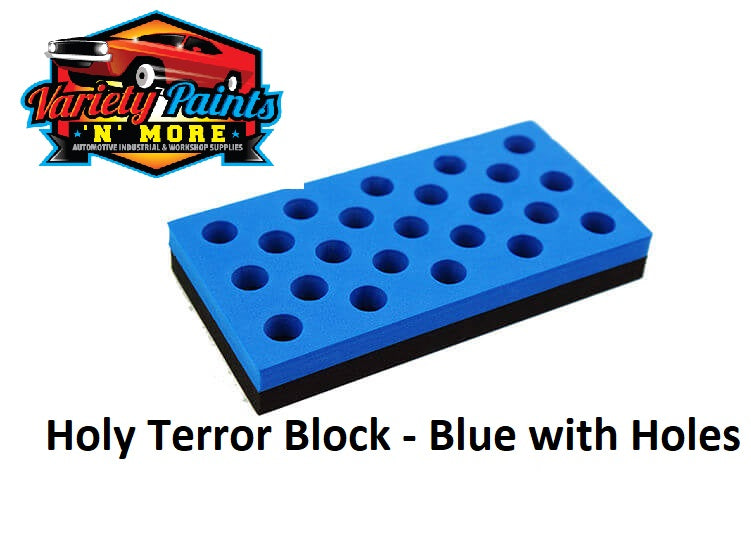 Holy Terror Block - Blue with Holes