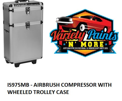 IS975MB - AIRBRUSH COMPRESSOR WITH WHEELED TROLLEY CASE