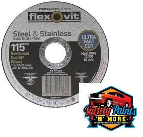 Flexovit Inox Cutting Wheel 115mm x 1mm x 22mm