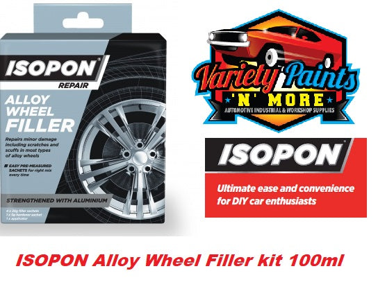 Isopon Alloy Wheel Filler 100mm Kit New Line