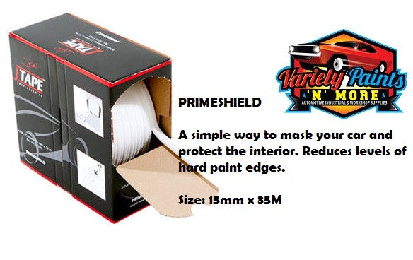 JTape Primeshield Masking For Hard Paint Edges 15mm x 35 metres