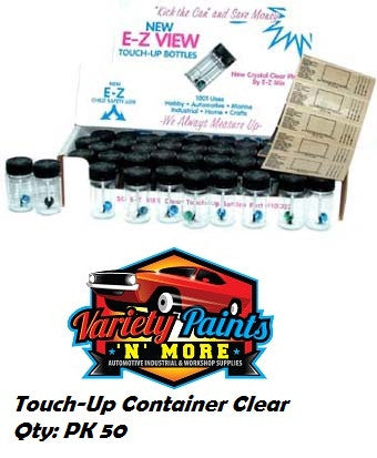 Touch-Up Container Clear  Qty: PK 50