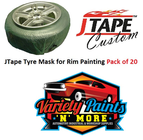 JTape Tyre Mask for Rim Painting 20 PACK