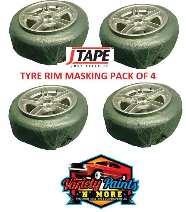 JTape Tyre Mask for Rim Painting Pack of 4