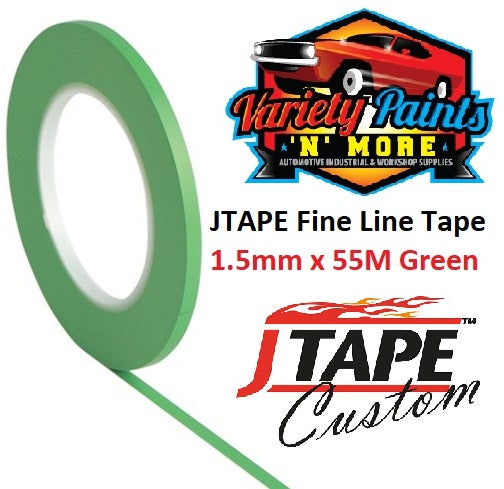 JTAPE Fine Line Tape 1.5mm x 55M Green