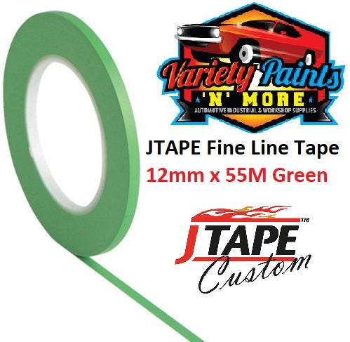 JTAPE Green Fine Line Tape 12mm x 55M