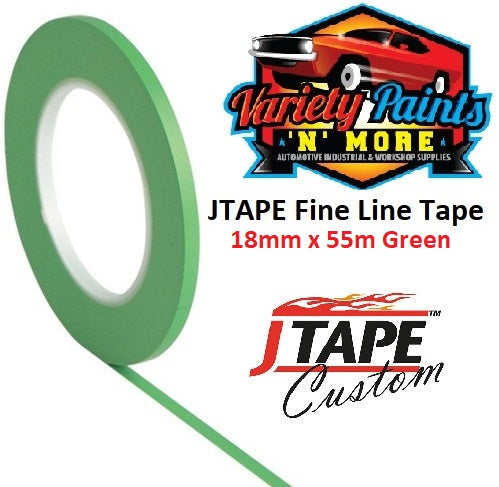 JTAPE Green Fine Line Tape 18mm x 55M
