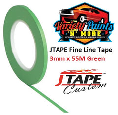 JTAPE Fine Line Tape 3mm x 55M Green