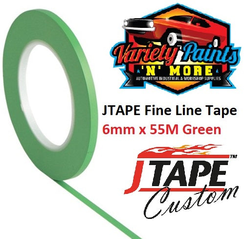 JTAPE Green Fine Line Tape 6mm x 55M