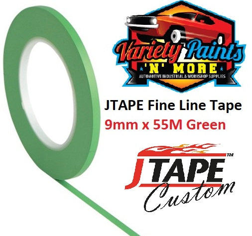 JTAPE Green Fine Line Tape 9mm x 55M