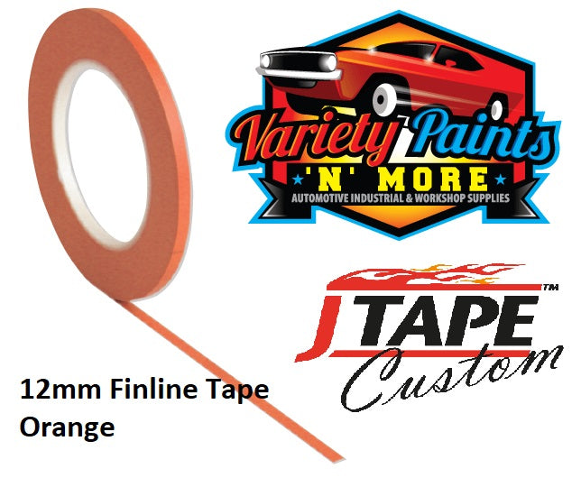 JTAPE Orange Fine Line Masking Tape 12mm x 55M