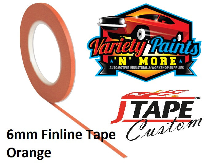 JTAPE Orange Fine Line Masking Tape 6mm x 55M
