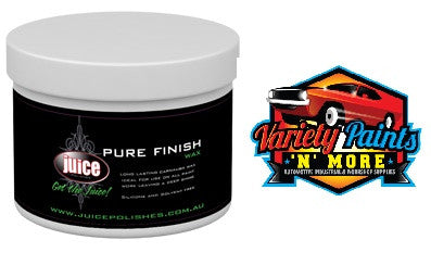 Juice Pure finish wax is a Carnauba Wax 400ml