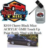 K010 Cherry Black Mica ACRYLIC GMH Touch Up Paint Bottle 50ml with Brush