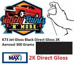 K73 Super Direct Gloss Jet Black 2K Aerosol Paint 300 Grams
