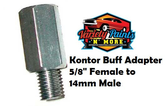"Kontor Buff Pad Adaptor Buff Adaptor to suit Foam Pads 5/8"" Female to 14mm Male"