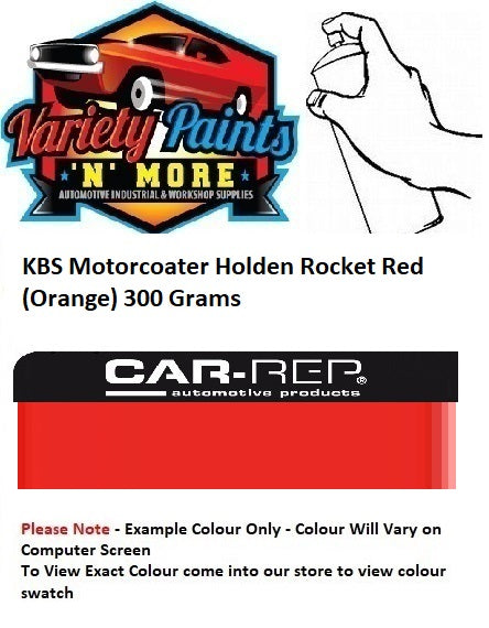 KBS Motorcoater Holden Rocket Red (Orange) Engine Enamel 300G **SEE NOTES