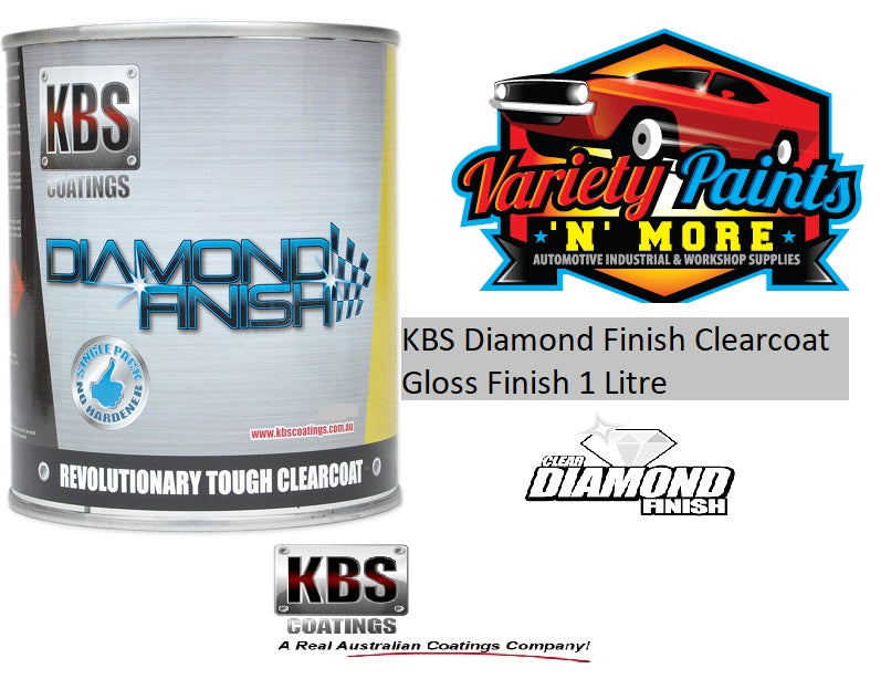 KBS Diamond Finish Clearcoat Gloss Finish 1 Litre
