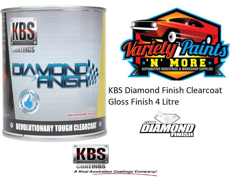 KBS Diamond Finish Clearcoat Gloss Finish 4 Litre