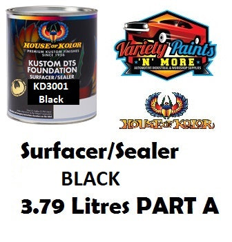 Kustom DTS Foundation Surfacer/Sealer Black 1 Gallon House of Kolor