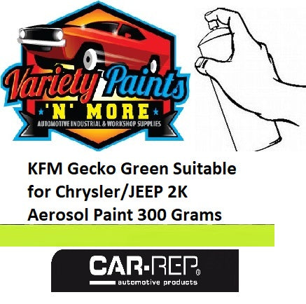 KFM Gecko Green Suitable for Chrysler/JEEP 2K Aerosol Paint 300 Grams