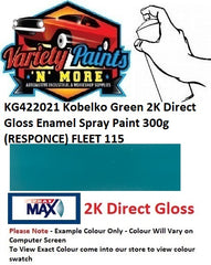 KG422021 Kobelko Green 2K Direct Gloss Enamel Spray Paint 300g (RESPONCE) FLEET 115