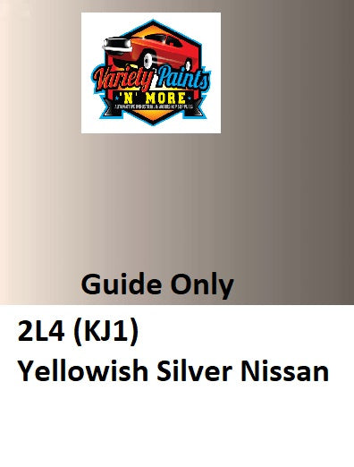 Variety Paints 2L4 (KJ1) Yellowish Silver Nissan  ACRYLIC  Aerosol Paint 300 Grams