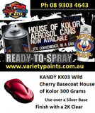 KANDY KK03 Wild Cherry Basecoat House of Kolor 300 Grams