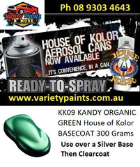 KK09 KANDY ORGANIC GREEN House of Kolor BASECOAT 300 Grams