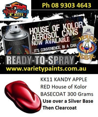 KK11 KANDY APPLE RED House of Kolor BASECOAT 300 Grams