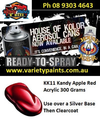 KK11 KANDY APPLE RED House of Kolor Acrylic 300 Grams