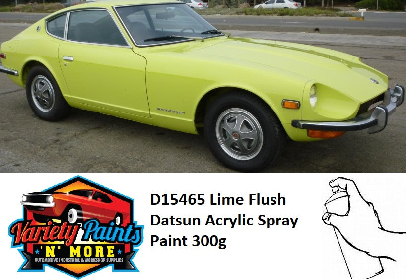 D15465 Lime Flush Datsun Acrylic Spray Paint 300g