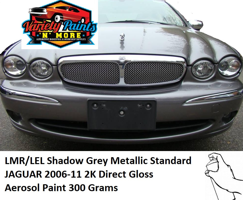 LMR/LEL 2K Shadow Grey Metallic Standard JAGUAR 2006-11 Direct Gloss Aerosol Paint 300 Grams
